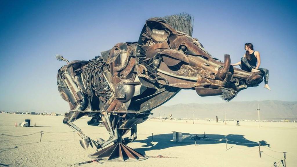 Avec les Makers de Burning Man