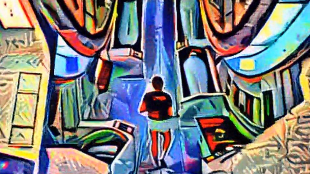 Un génie a transformé « 2001 l'Odyssée de l'Espace » en peinture cubiste