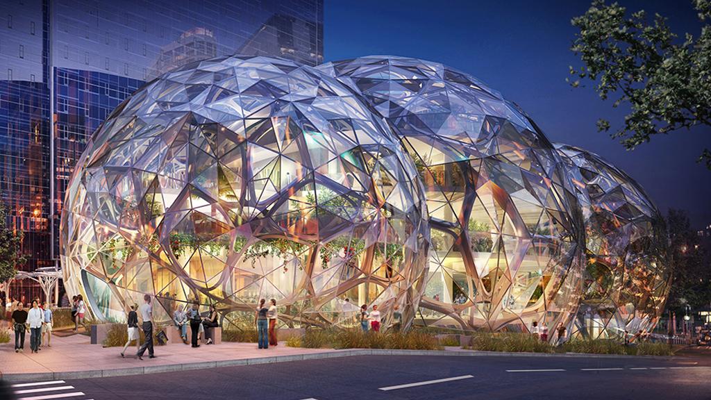 Amazon construit des bureaux-jungle