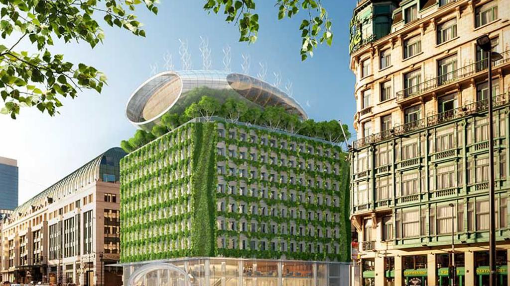 Le premier immeuble 100% végétalisé sera belge