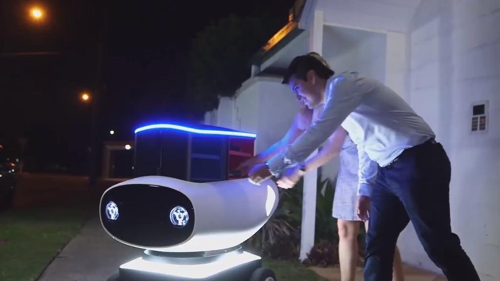 Faites-vous livrer une pizza par robot !