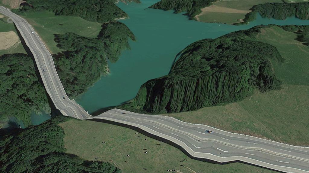 Fusion futuriste sur Google Earth