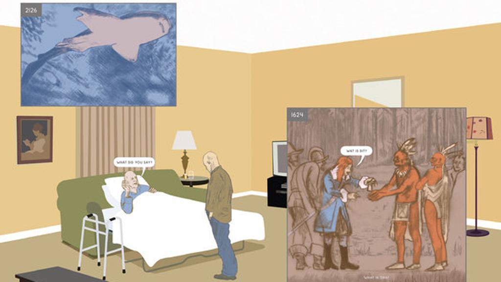 """""""Ici"""" de Richard McGuire, le chef d'oeuvre de la bande-dessinée qui traverse les âges"""