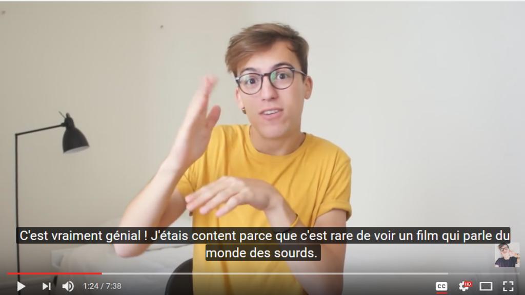 Lucas est sourd, et Youtubeur !