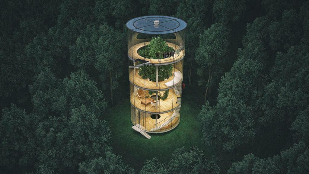 La maison tubulaire du Kazakhstan