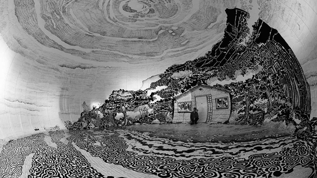 Le chalet dans le dôme de Oscar Oiwa