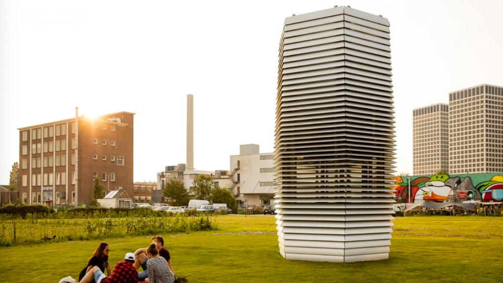 Une tour transforme la pollution de l'air en bijoux