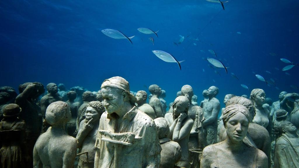 Bienvenue au musée de sculptures sous-marines !