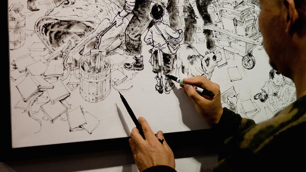 L'illustrateur virtuose, Kim Jung Gi