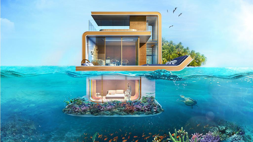Ces splendides villas sont construites sous la mer