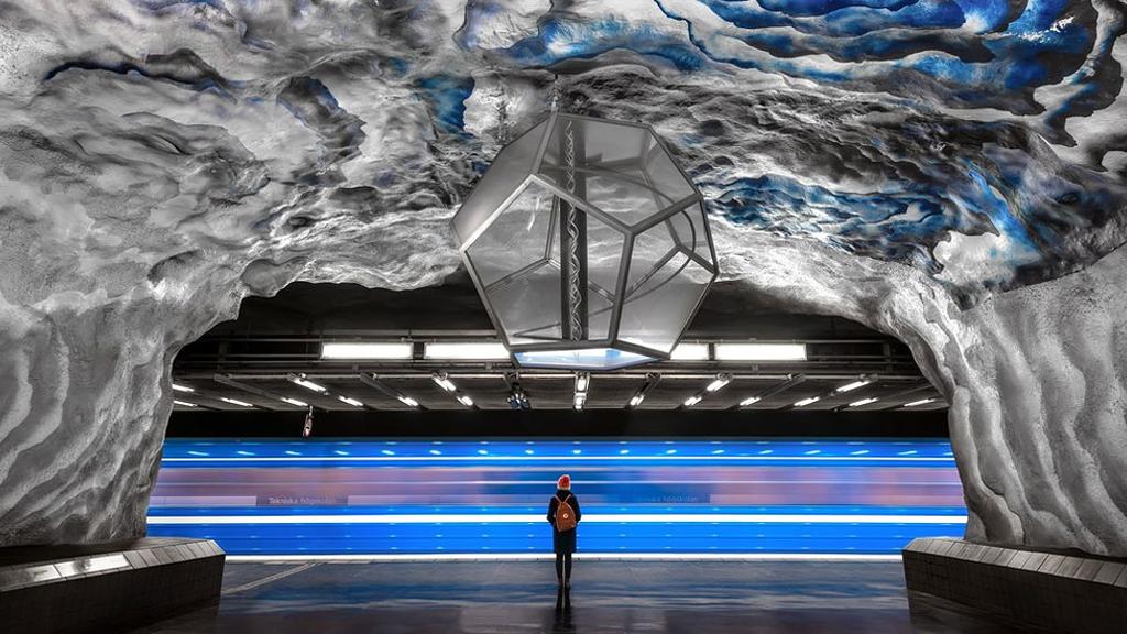 Dans le métro futuriste de Stockholm
