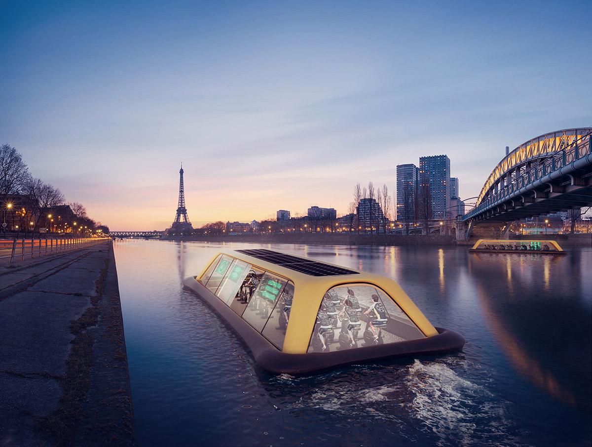 Ce bateau-salle de gym naviguera bientôt sur la Seine