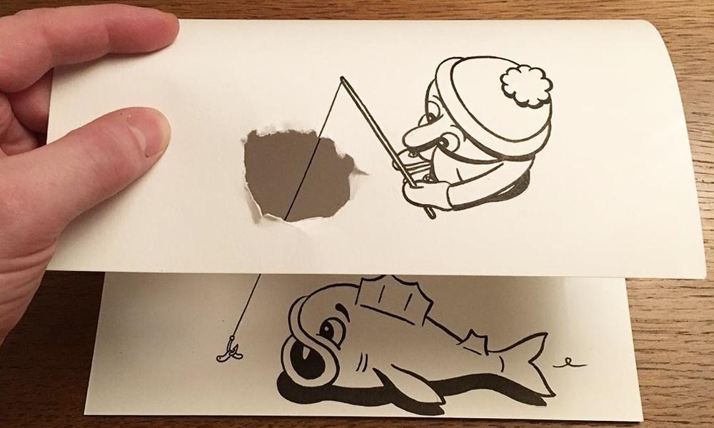 Comment créer en 3D avec une simple feuille blanche? Demandez à HuskMitNavn