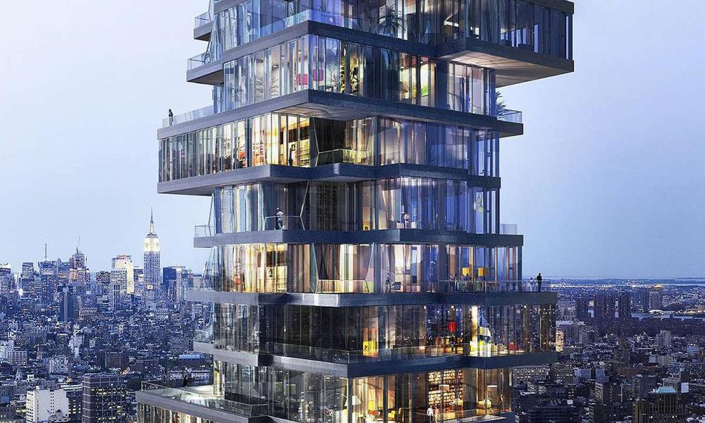 """""""56 Leonard"""" : le gratte-ciel qui fait tourner la tête des New-Yorkais"""
