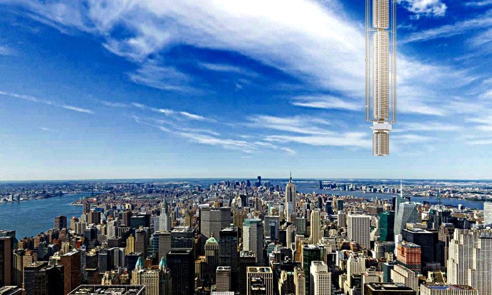 Des architectes imaginent un building planté dans l'espace