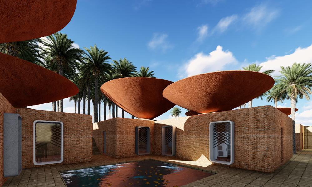 Des architectes ont inventé le toit qui récupère l'eau de pluie