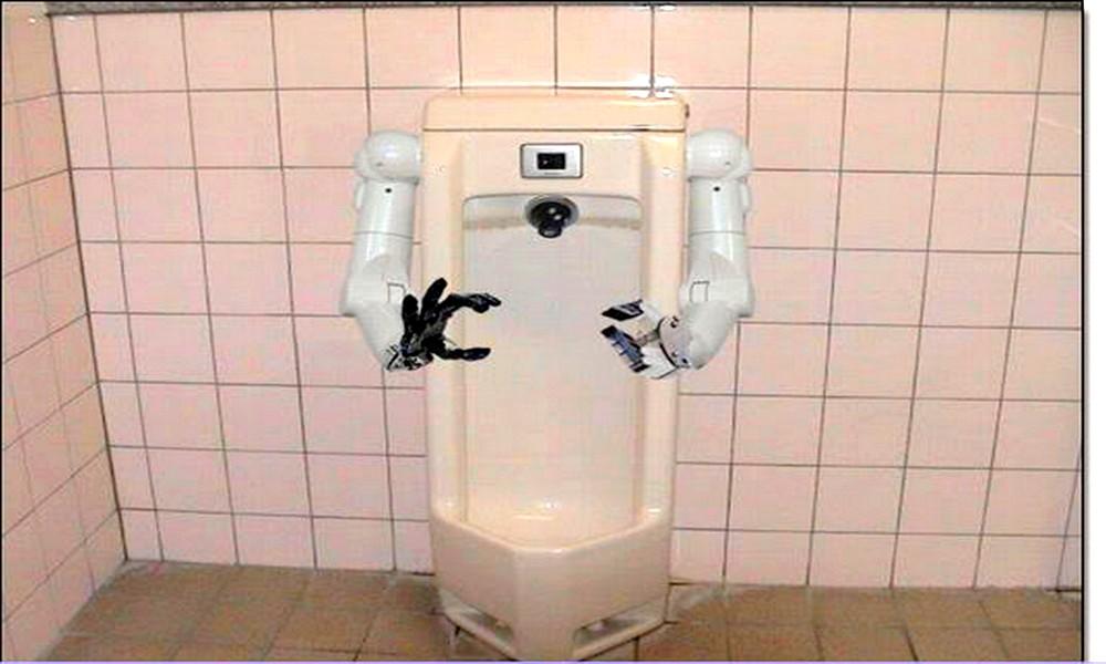 Retenez-vous, cet urinoir peut recharger votre smartphone !