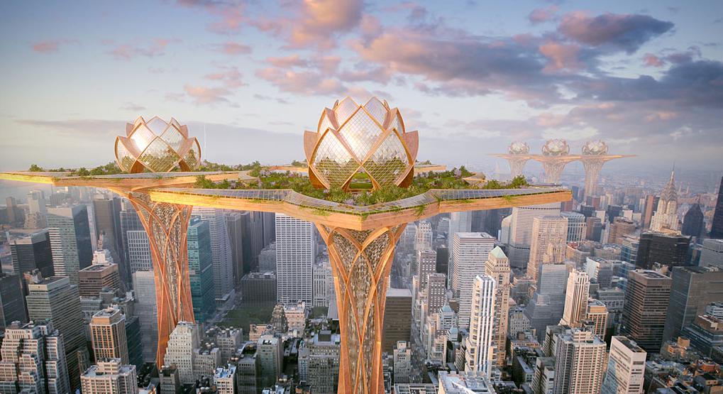 Des jardins suspendus au-dessus des villes
