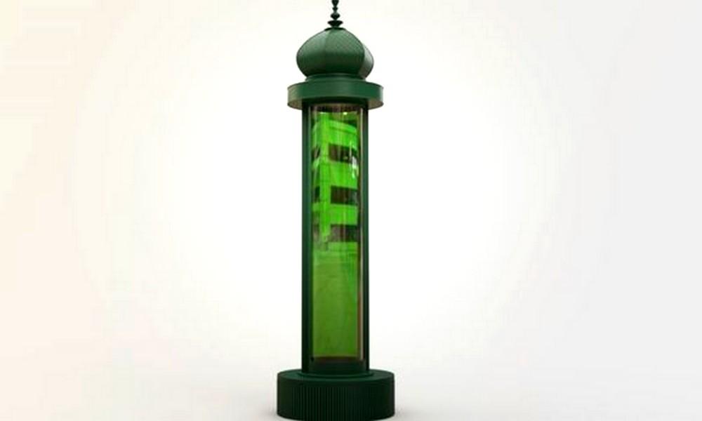 Des colonnes Morris en algues pour mieux respirer à Paris !