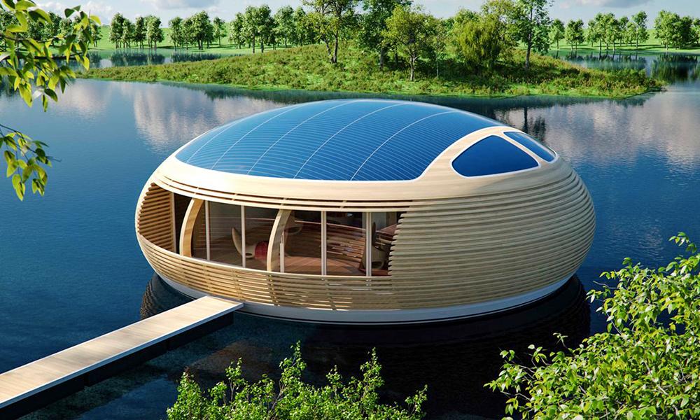 Cette maison écolo marche sur l'eau