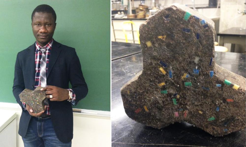 Un Malien a inventé un ciment durable en plastique recyclé