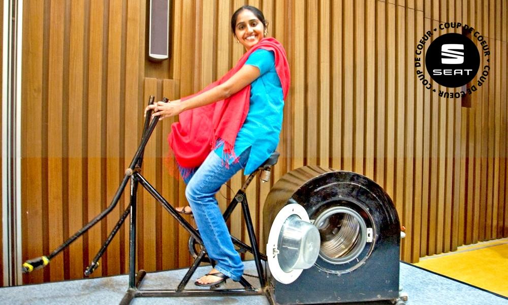 A 14 ans, elle invente un lave-linge à pédales !