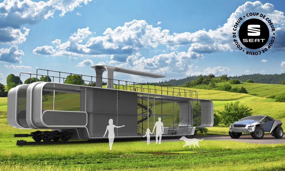 Contre le train-train quotidien : une maison mobile et montée sur rails !