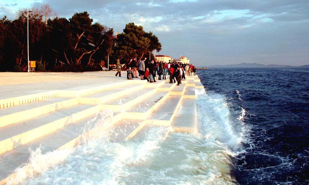 En Croatie on joue de l'orgue avec… la mer.