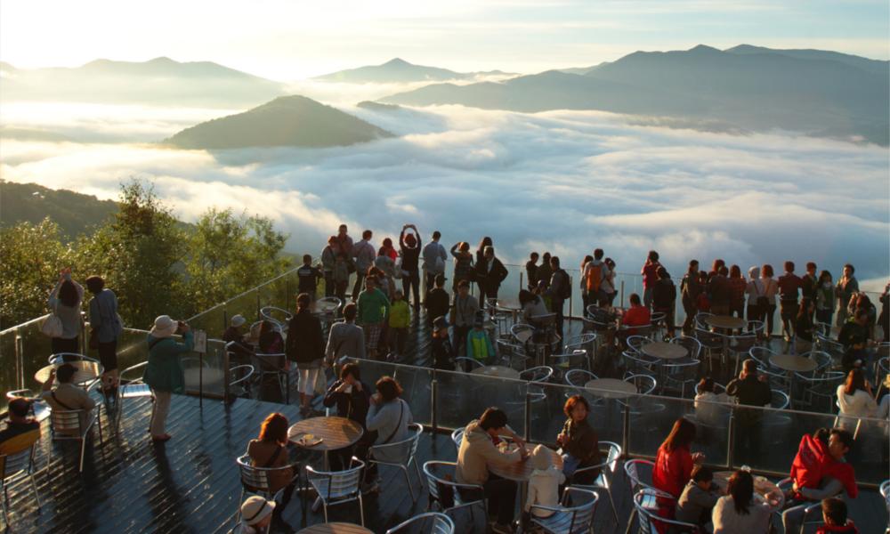 Au Japon, on peut marcher sur des nuages