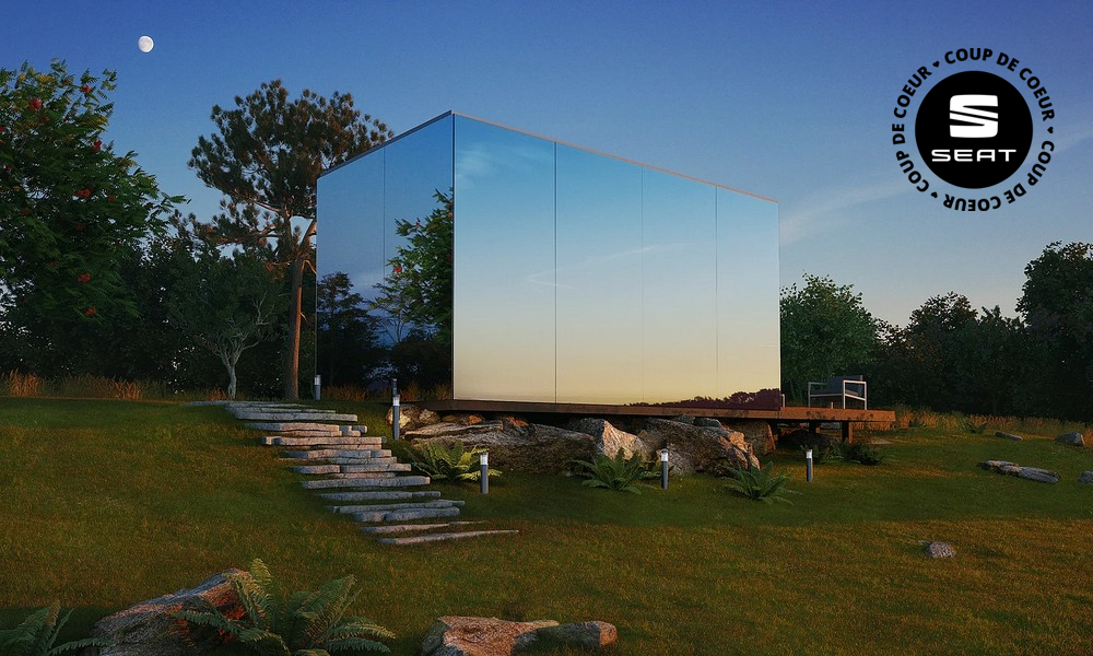 Cette maison-miroir se fabrique en huit heures