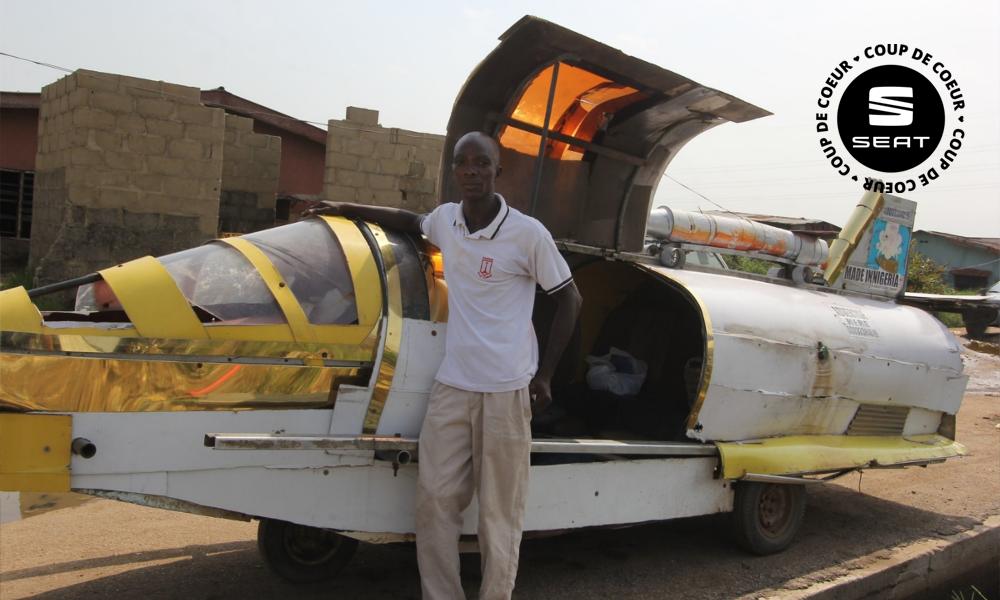 Au Nigeria, un savant fou a inventé une voiture en déchets recyclés