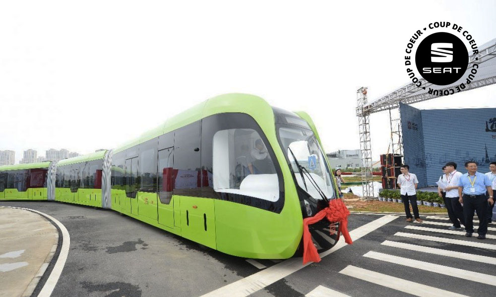 La Chine lance un train sans conducteur et... sans rail