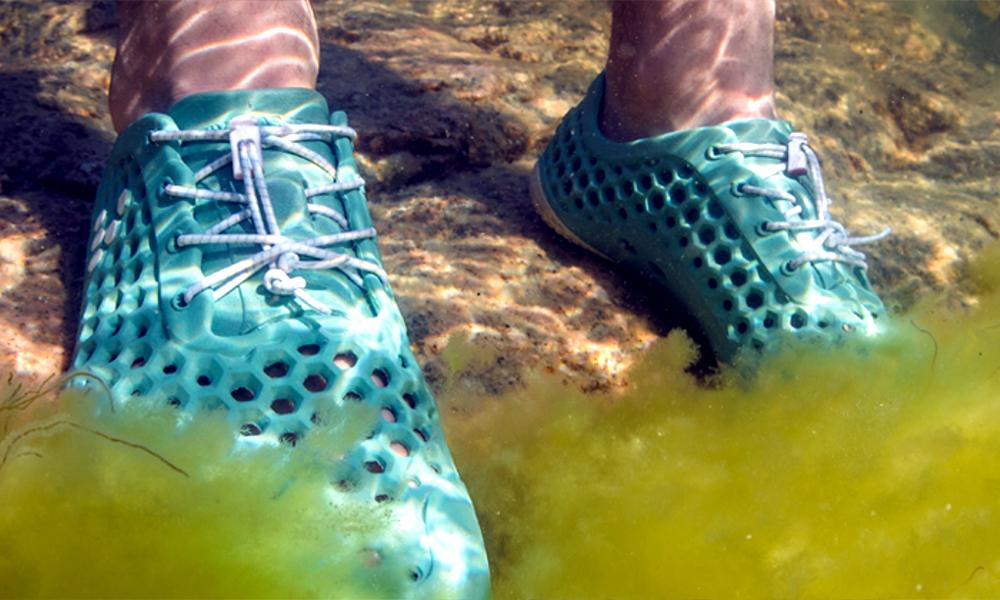 Ces baskets à base d'algues dépolluent les mers et... la Terre