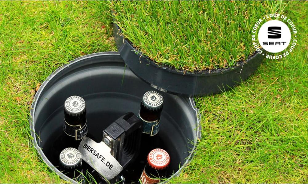 Plus écolo, plus frais… Et si vous planquiez vos bières sous le gazon ?