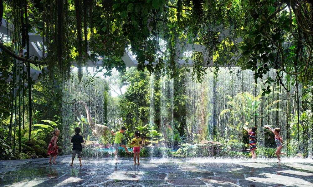 Cette majestueuse jungle tropicale pousse... à l'intérieur d'un hôtel