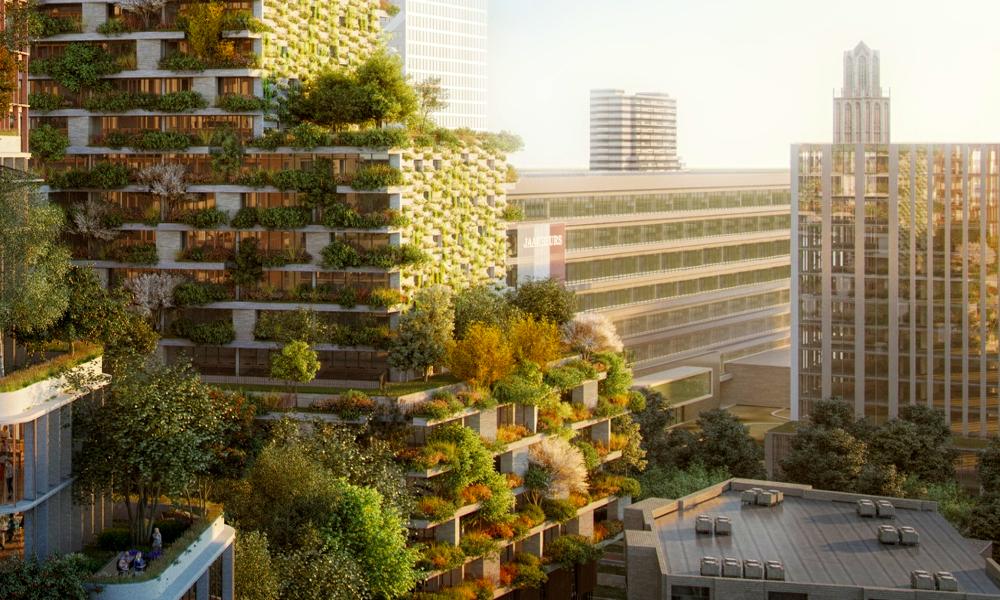 Respirez mieux grâce aux 10.000 arbres plantés sur cette tour végétale