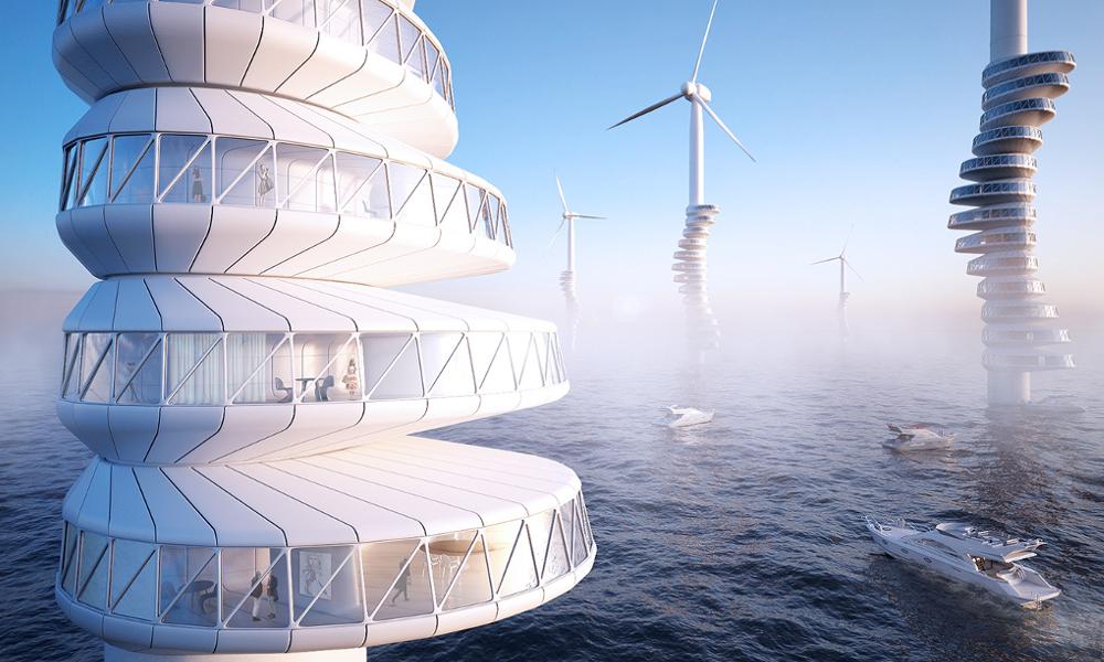 Habiter dans des immeubles-éoliennes, le pari fou d'un architecte allemand