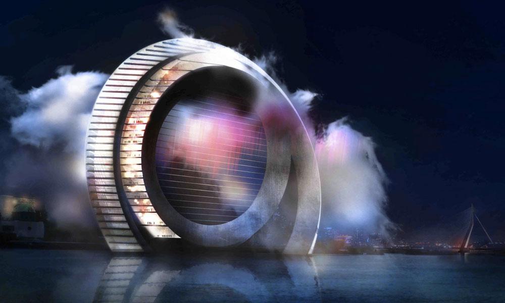 The Windwheel, fusion réussie d'un moulin, d'une grande roue et d'un immeuble