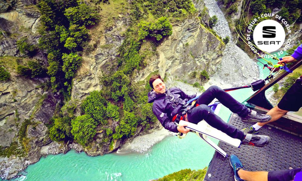 En Nouvelle-Zélande, on saute à l'élastique sans quitter son fauteuil