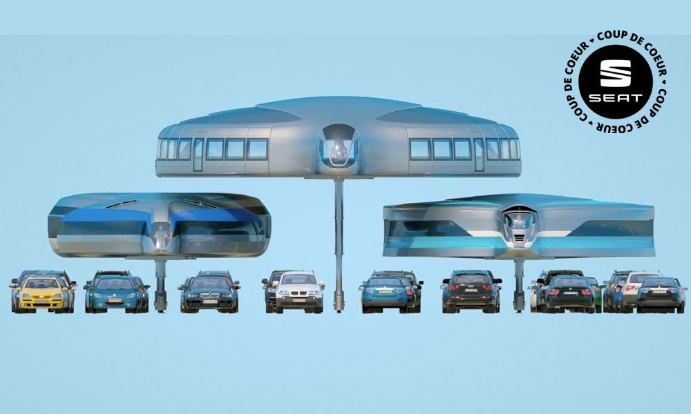 Fini les bouchons, voici le transport en commun du futur