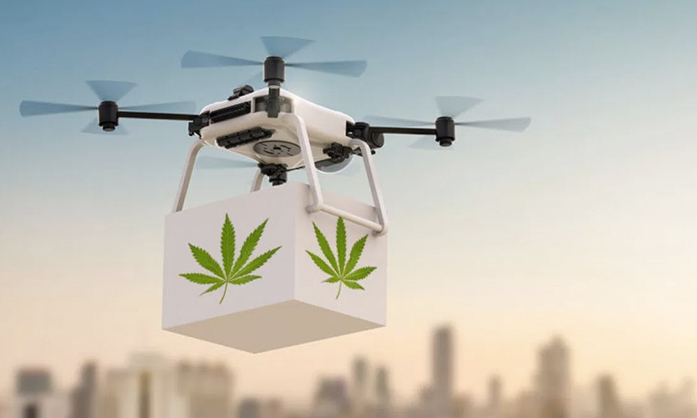 Les premières livraisons de cannabis par drone vont débuter aux USA