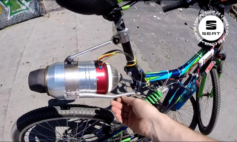 J'ai testé pour vous : monter un réacteur sur mon vélo