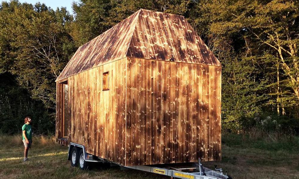 Une tiny house pour accueillir les réfugiés dans son jardin