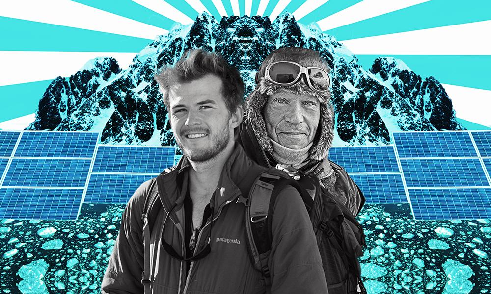 Père et fils, ils montent la première expédition vers le Pôle Sud sans énergie fossile