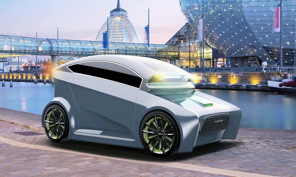 La voiture du futur, c'est ce modèle deux places sans pare-brise