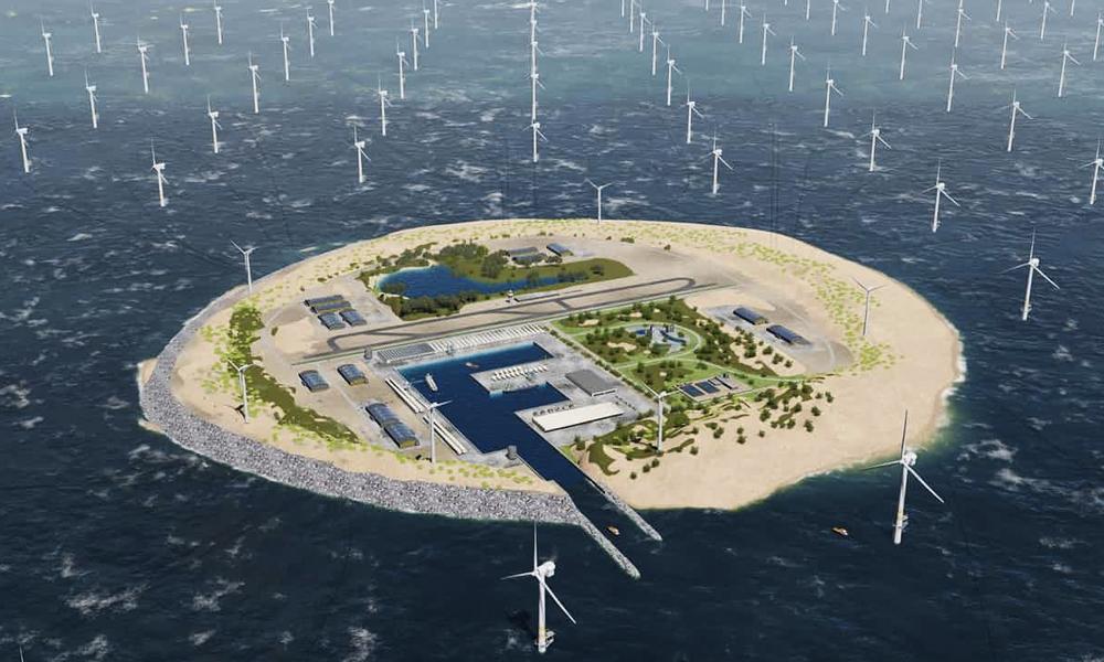 Une gigantesque île à éoliennespourrait fournir de l'électricité à 1 européen sur 10