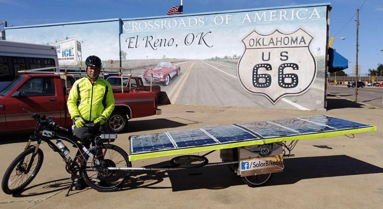 Michel a parcouru la route 66 à vélo solaire