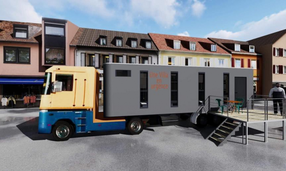 Des Français recyclent des camions frigo pour aider les SDF à vaincre le froid