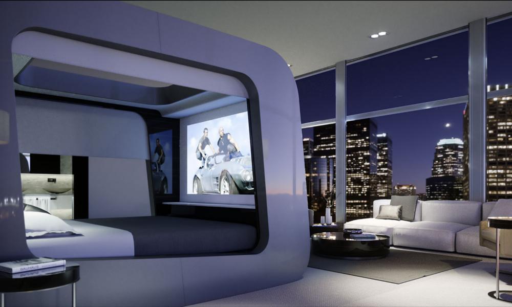 Les fans de séries vont adorer ce lit-home-cinema