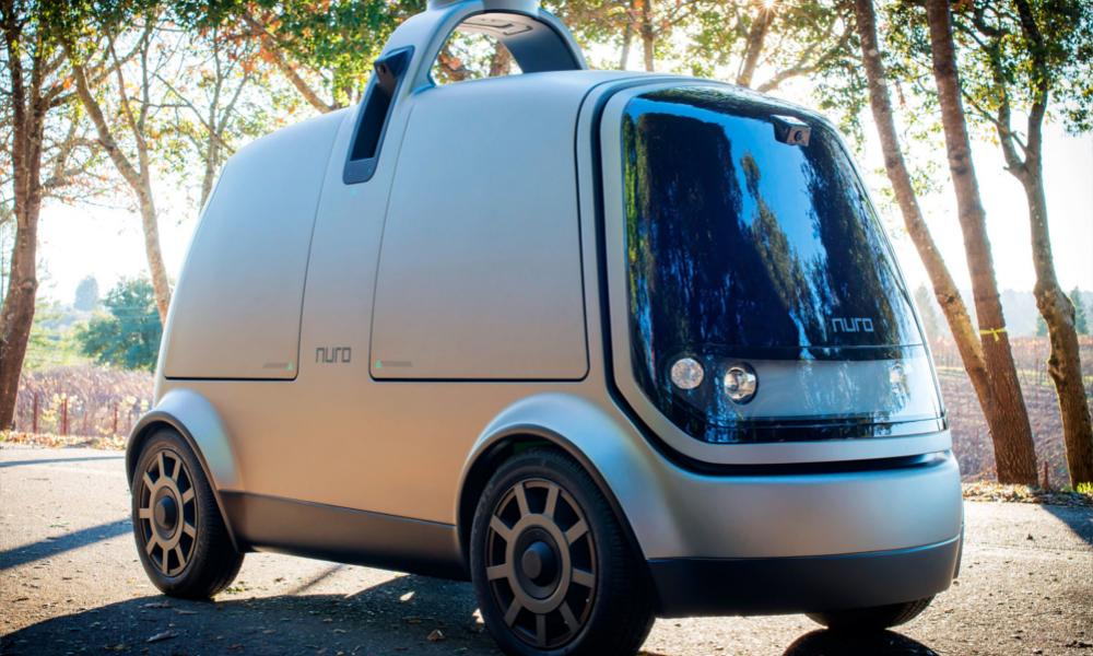 Le livreur du futur, c'est cette voiture autonome en forme de grille-pain
